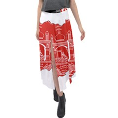 Afghanistan Flag Map Velour Split Maxi Skirt by abbeyz71