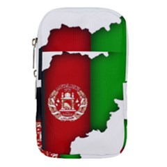 Afganistan Flag Map Waist Pouch (small)