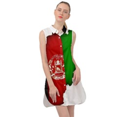 Afganistan Flag Map Sleeveless Shirt Dress by abbeyz71