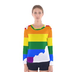 Lgbt Flag Map Of Afghanistan Women s Long Sleeve Tee by abbeyz71