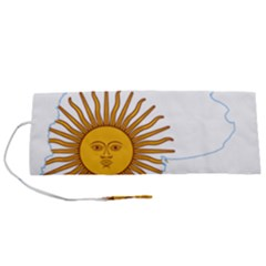 Flag Map Of Argentina & Islas Malvinas Roll Up Canvas Pencil Holder (s)