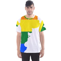Lgbt Flag Map Of Argentina Men s Sports Mesh Tee