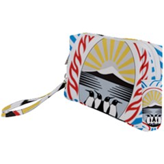 Coat Of Arms Of Tierra Del Fuego Province, Argentina Wristlet Pouch Bag (small)