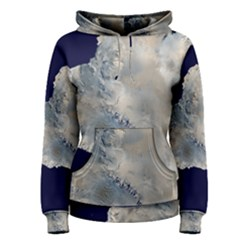 Satellite Image Of Antarctica Women s Pullover Hoodie