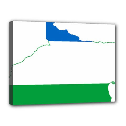 Flag Map Of Argentine Province Of Río Negro Canvas 16  X 12  (stretched)