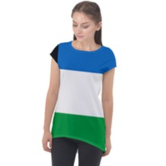Flag Of Argentine Province Of R¨ao Negro Cap Sleeve High Low Top