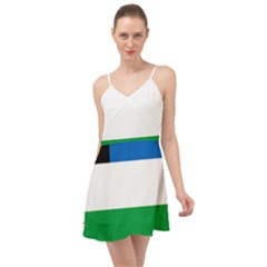 Flag Of Argentine Province Of Río Negro Summer Time Chiffon Dress