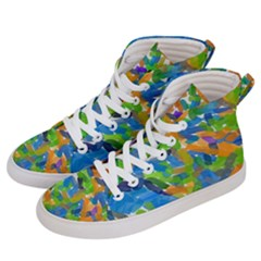 Paint Brushes On A White Background                          Women s Hi-top Skate Sneakers by LalyLauraFLM