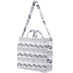 Notes Lines Music Square Shoulder Tote Bag by Mariart