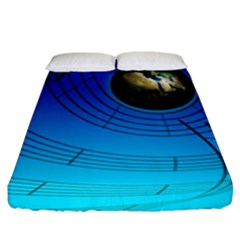 Music Reble Sound Concert Fitted Sheet (king Size)