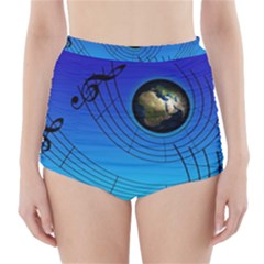 Music Reble Sound Concert High Waisted Bikini Bottoms