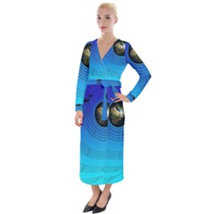 Music Reble Sound Concert Velvet Maxi Wrap Dress