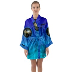Music Reble Sound Concert Long Sleeve Kimono Robe