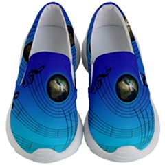 Music Reble Sound Concert Kids  Lightweight Slip Ons