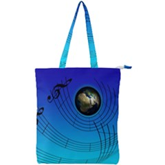 Music Reble Sound Concert Double Zip Up Tote Bag