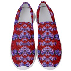 Flowers So Small On A Bed Of Roses Men s Slip On Sneakers