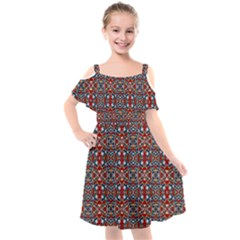 A 8 Kids  Cut Out Shoulders Chiffon Dress
