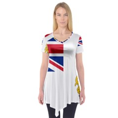 Flag Of The British Antarctic Territory Short Sleeve Tunic  by abbeyz71