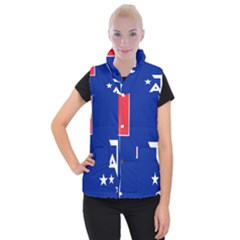 Flag Of The French Southern And Antarctic Lands Women s Button Up Vest by abbeyz71