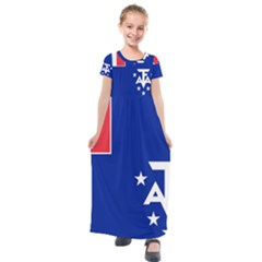 Flag Of The French Southern And Antarctic Lands Kids  Short Sleeve Maxi Dress by abbeyz71
