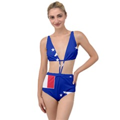 Flag Of The French Southern And Antarctic Lands Tied Up Two Piece Swimsuit by abbeyz71