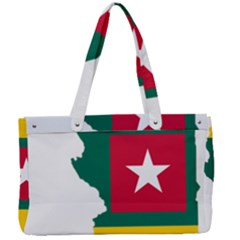 Togo Flag Map Geography Outline Canvas Work Bag by Sapixe