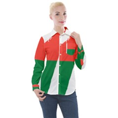 Madagascar Flag Map Geography Women s Long Sleeve Pocket Shirt