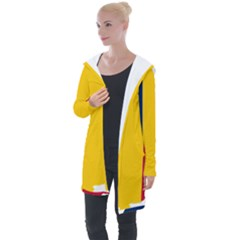 Chad Flag Map Geography Outline Longline Hooded Cardigan
