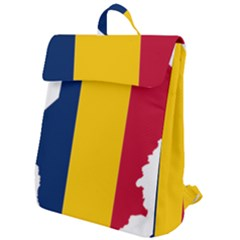 Chad Flag Map Geography Outline Flap Top Backpack