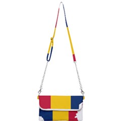 Chad Flag Map Geography Outline Mini Crossbody Handbag by Sapixe