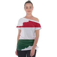 Hungary Country Europe Flag Tie Up Tee by Sapixe