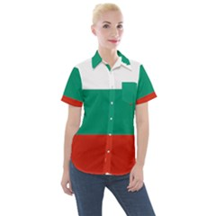 Bulgaria Country Europe Flag Women s Short Sleeve Pocket Shirt