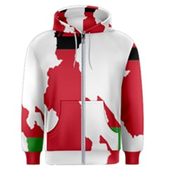 Malawi Flag Map Geography Outline Men s Zipper Hoodie