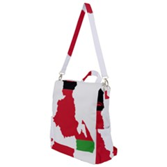 Malawi Flag Map Geography Outline Crossbody Backpack