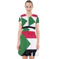 Sudan Flag Map Geography Outline Adorable In Chiffon Dress