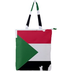 Sudan Flag Map Geography Outline Double Zip Up Tote Bag by Sapixe