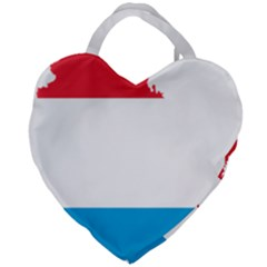 Luxembourg Country Europe Flag Giant Heart Shaped Tote