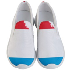 Luxembourg Country Europe Flag Men s Lightweight Slip Ons by Sapixe