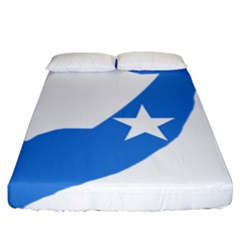 Somalia Flag Map Geography Outline Fitted Sheet (california King Size)