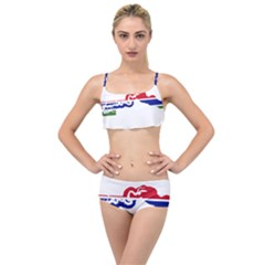 Gambia Flag Map Geography Outline Layered Top Bikini Set