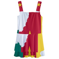 Cameroon Flag Map Geography Kids  Layered Skirt Swimsuit by Sapixe