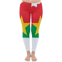 Burkina Faso Flag Map Geography Classic Winter Leggings by Sapixe