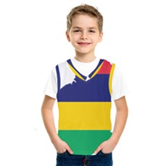Mauritius Flag Map Geography Kids  Sportswear