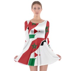 Western Sahara Flag Map Geography Long Sleeve Skater Dress