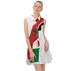 Western Sahara Flag Map Geography Sleeveless Shirt Dress