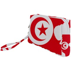 Tunisia Flag Map Geography Outline Wristlet Pouch Bag (small)