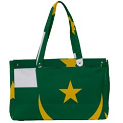 Mauritania Flag Map Geography Canvas Work Bag