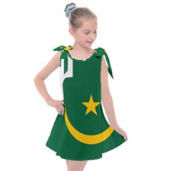 Mauritania Flag Map Geography Kids  Tie Up Tunic Dress by Sapixe