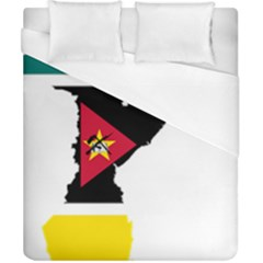 Mozambique Flag Map Geography Duvet Cover (california King Size) by Sapixe