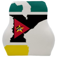Mozambique Flag Map Geography Car Seat Velour Cushion  by Sapixe